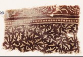 Textile fragment with swirling leaves and tendrils (EA1990.523)