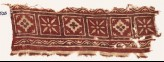 Textile fragment with squares, diamond-shapes, and flowers (EA1990.526)