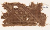 Textile fragment with linked diamond-shapes (EA1990.530)