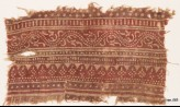 Textile fragment with bands of dotted patterns and vine (EA1990.533)