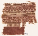 Textile fragment with bands of dotted patterns and vine (EA1990.535)