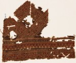Textile fragment with bands of dotted patterns and vine (EA1990.537)