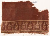 Textile fragment with stylized trees and possibly columns (EA1990.545)