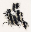 Textile fragment with stripes