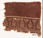 Textile fragment with columns and stylized trees (EA1990.551)