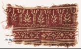 Textile fragment with columns, stylized trees, diamond-shapes, and leaves (EA1990.552)