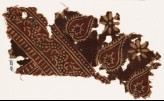 Textile fragment with tear-drops and dotted vine (EA1990.555)