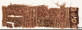 Textile fragment with dotted vine and stylized tendrils (EA1990.559)