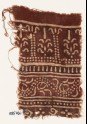 Textile fragment with columns, stylized trees, and dotted vine (EA1990.560)