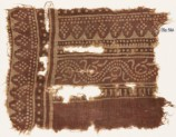 Textile fragment with dotted vine and rhombic shapes (EA1990.562)