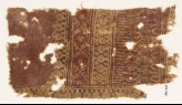 Textile fragment with circles, tendrils, rosettes, and arches (EA1990.573)