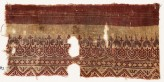 Textile fragment with leaves, rosettes, diamond-shapes, and zigzag (EA1990.582)