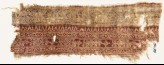 Textile fragment with bands of leaves, vine, quatrefoils, and diamond-shapes (EA1990.585)