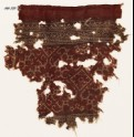 Textile fragment with tendrils, ornate rosettes, and squares (EA1990.590)