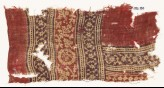 Textile fragment with bands of rosettes, leaves, and tendrils (EA1990.594)