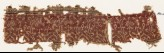 Textile fragment with plants, half-medallions, and flowers (EA1990.601)