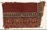 Textile fragment with plants, half-medallions, and bands of rosettes (EA1990.603)