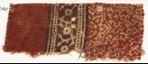Textile fragment with tendrils, dotted frames, and rosettes (EA1990.621)
