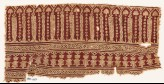 Textile fragment with arches, columns, and flower-heads (EA1990.627)
