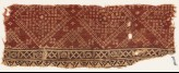Textile fragment with crosses, rosettes, and bandhani, or tie-dye, imitation (EA1990.629)