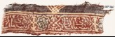 Textile fragment with linked cartouches and Persian-style script (EA1990.630)