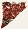 Textile fragment with squares, arches, and bandhani, or tie-dye, imitation (EA1990.644)