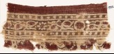 Textile fragment with bands of rosettes, leaves, and dots (EA1990.645)