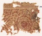 Textile fragment with medallion, flowers, and leaves (EA1990.701)