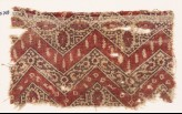 Textile fragment with chevrons, hexagons, and flowers (EA1990.703)