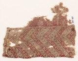 Textile fragment with chevrons, flowers, and snowflakes (EA1990.705)