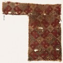 Textile fragment with linked squares, tendrils, and quatrefoils (EA1990.710)