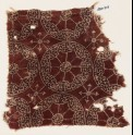 Textile fragment with circles, rosettes, and tendrils (EA1990.713)