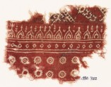 Textile fragment with rosettes and pointed arches (EA1990.722)