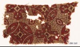 Textile fragment with linked circles and quatrefoils (EA1990.723)