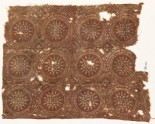 Textile fragment with linked circles and stars (EA1990.727)