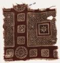 Textile fragment with squares and diamond-shapes (EA1990.728)