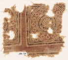 Textile fragment with squares, tendrils, and crosses (EA1990.730)