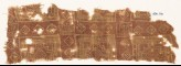 Textile fragment with squares and stepped squares (EA1990.731)