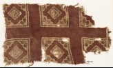 Textile fragment with squares and rosettes (EA1990.732)