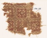 Textile fragment with grid and quatrefoils (EA1990.735)