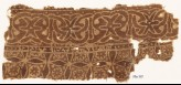Textile fragment with interlace and four-pointed stars (EA1990.739)