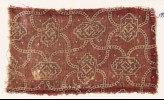 Textile fragment with linked medallions and cartouches (EA1990.746)