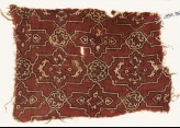 Textile fragment with lobed cartouches and rosettes (EA1990.760)