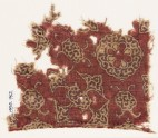 Textile fragment with quatrefoil, lobed disc, and medallions (EA1990.762)