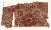 Textile fragment with quatrefoils, flowers, and stars (EA1990.763)
