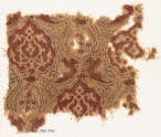 Textile fragment with medallions and dotted tendrils (EA1990.776)