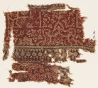 Textile fragment with half-medallions, squares, and plants (EA1990.780)
