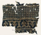 Textile fragment with rosettes, lobed squares, and bandhani, or tie-dye, imitation (EA1990.79)