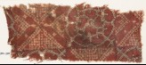 Textile fragment with bandhani, or tie-dye, imitation and interlocking circles (EA1990.795)