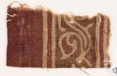 Textile fragment with tendril and leaves (EA1990.806)